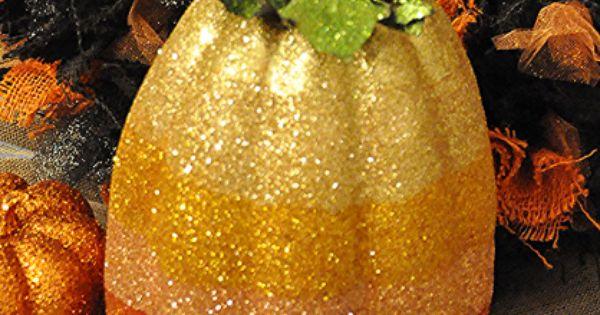 Glitter Pumpkins. Decor fall