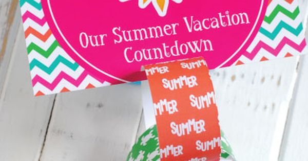Free Printable Summer Vacation Countdown Calendar Summer Vacations Paper Chains And Count