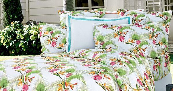 linge de lit uni satin sublime descamps tropical floride et invitations. Black Bedroom Furniture Sets. Home Design Ideas