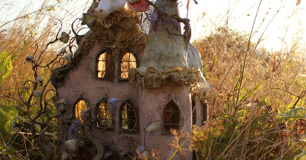 Papier mach artist laetitia mi ral 39 s dollhouse altered art mixed media - The dollhouse from fairy tales to reality ...