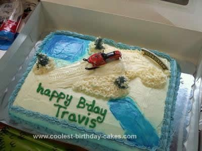Prime Coolest Snowmobile Birthday Cake With Images Cool Birthday Funny Birthday Cards Online Alyptdamsfinfo