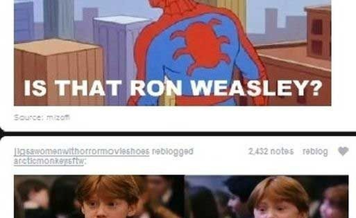 Because this combines Harry Potter, Spider Man, and The Amanda Show. Skill. hp crossover spiderman marvel
