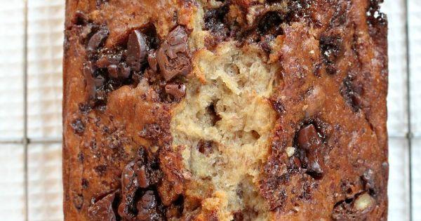 Skinny Chocolate- Caramel Banana Bread | Banana Bread, Caramel and ...