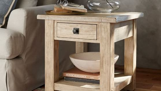 Benchwright Square End Table Home Decor Pottery Barn Sofa Furniture