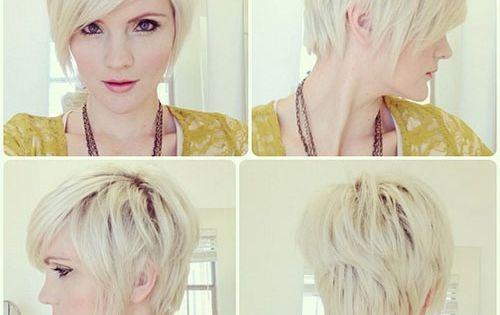 Long front pixie haircut - for short hair cut.