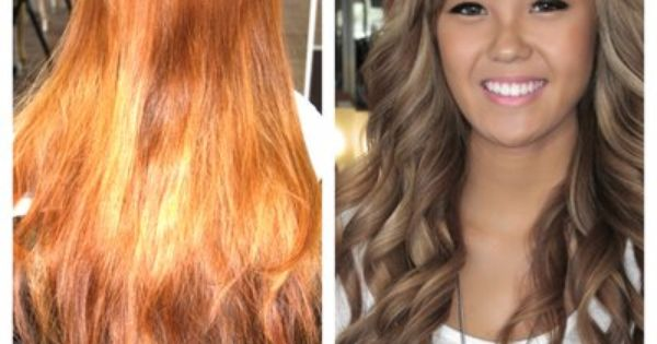 blonde hair color ash light brown over orange from brassy red to beautiful pearly brown yelp hair