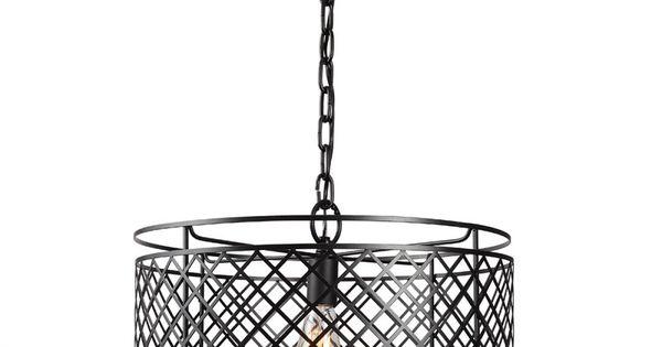 bleeker iron mesh 1 light chain pendant
