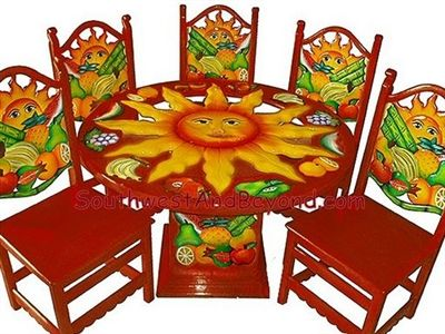 001b Tropical Fruit Sun Table Sets Hand Painted 050