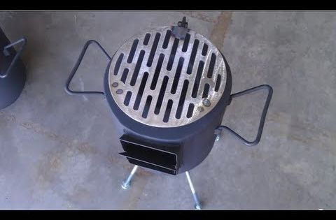 Homemade tin can rocket stove diy rocket stove awesome for Decorative rocket stove