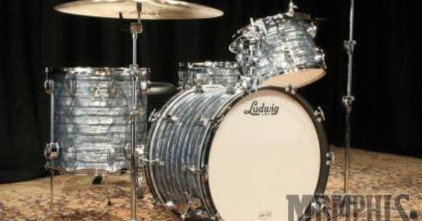 Ludwig Classic Maple Drum Set Sky Blue Pearl Custom Configuration Drums Ludwig Drums Drum Set
