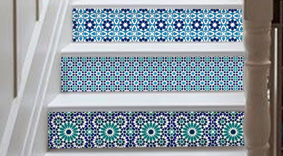 Marrakesh Stair Riser Decal : 10 Strips With 124cm Length