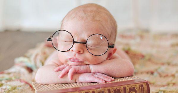 Cute! Baby bookworm