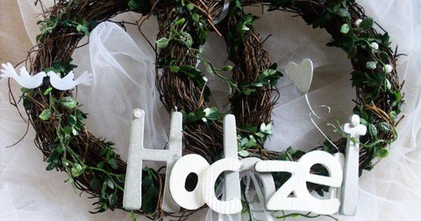 Turkranz Zur Hochzeit Silber Gold Diamantene Hochzeit By Uschi27 Geben Sie Ihren Gasten Schon An Der Haustur Diamantene Hochzeit Hochzeit Goldene Hochzeit