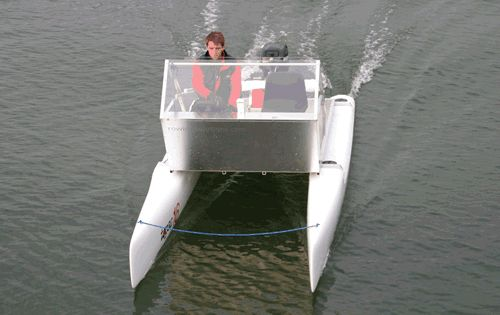 Rowing Solutions small power cat | Small Catamarans ...