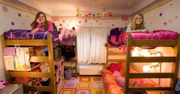 College Dorm Decoration Organization Ideas Futon Lounge
