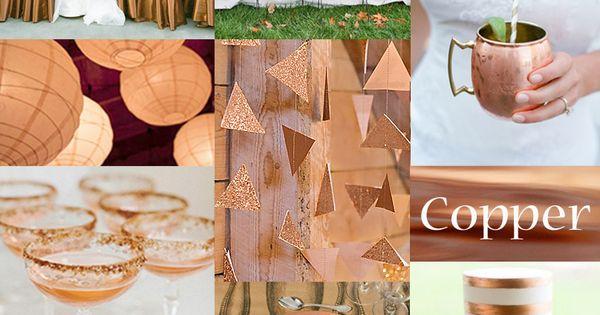 Copper Wedding Color | exclusivelyweddings