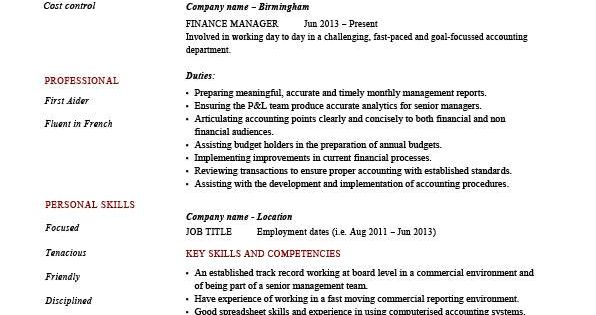 Finance Manager Resume, CV, Example, Sample, Templates, Auditing, Job  Description, Cash | Resume | Pinterest | Finance, Cv Examples And Resume