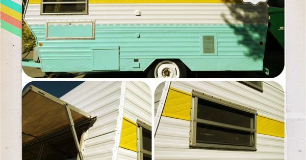 AFTER: bright. happy. sunshiny! glamping vintage trailer