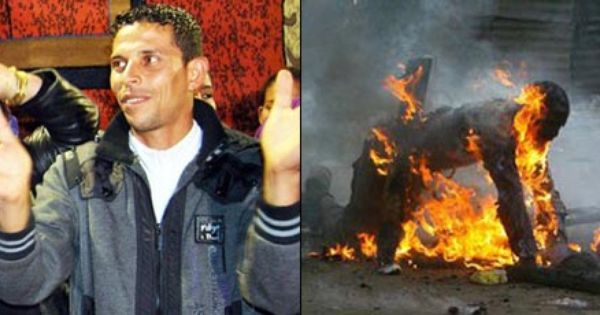 Before-and-after photos of Mohamed Bouazizi. When he ... Arab Spring Man On Fire