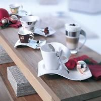 Villeroy Boch New Wave Caffe Cups And Spoons For The Coffee Table Villeroy Boch White Coffee Cups Tableware