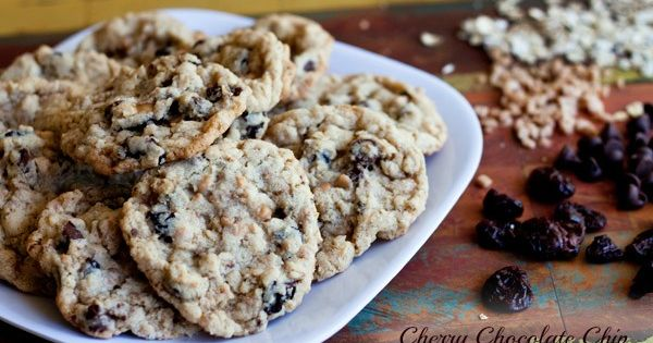 Cherry Chocolate Chip Oatmeal Toffee Cookies | Recipe | Chocolate Chip ...