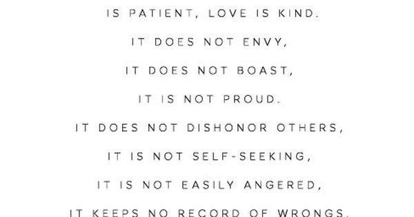 Wedding Reading Love Is Patient: Love Is Patient, Love Is Kind, Bible Verse Print, 1