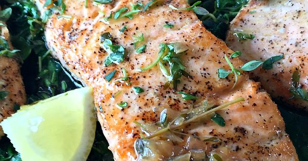 Salmon with Thyme Butter Sauce | Recipe | Dinner tonight, Butter ...
