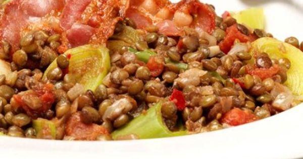 ... LENTILS WITH LEEKS AND CRISPY PANCETTA | Recipes | Pinterest | Lentils