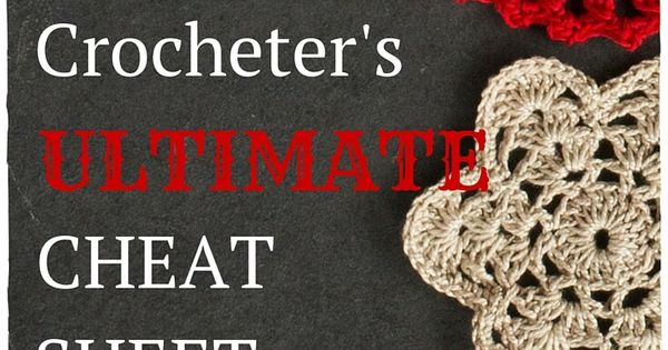 Crochet Stitches Cheat Sheet : How to do crochet, Cheat sheets and Crochet stitches on Pinterest