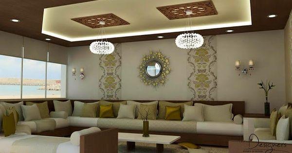 Salon marocain salon marocain moderne de luxe 2016 for Decoration interieur villa luxe