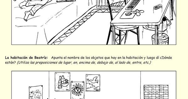 me encanta escribir en espa ol qu hay en la habitaci n el cuarto spanish i and ii. Black Bedroom Furniture Sets. Home Design Ideas