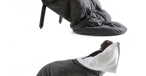 Sleeping bag chair. Perfect for falling asleep while reading or watching tv.