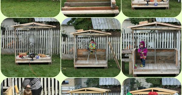 DIY Pallet playhouse pallet kids DIY