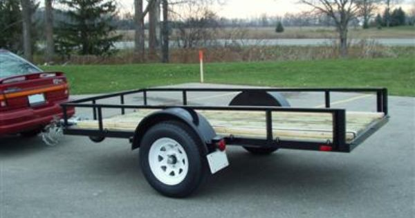Build Your Own Utility Trailer Utility Trailer Trailer Diy Homemade Trailer