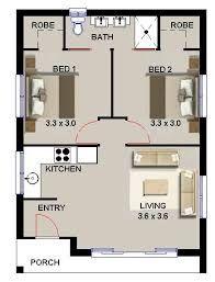Image Result For 2 Bedroom Granny Flat Designs Small House Plans Granny Flat Plans House Plans Australia