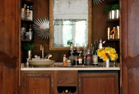 Armoire bar interiordesign portable bar, home bar design, bar stools, ceiling design,