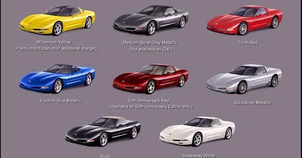 2003 C5 Exterior Color Chart If You Don T Love Corvettes