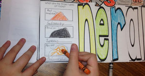 Engaging Rocks and Minerals Activities.... minerals and rocks flip flap book