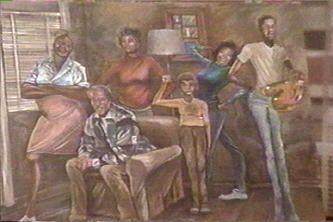African Art Black Art Print Black Wall Art Home Decor Art Housewarming Gift Good Times African American Art Watercolor Painting
