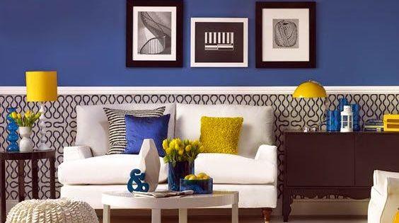 30 ideas de decoraci n de salas peque as modernas con - Decoracion de paredes pintadas ...