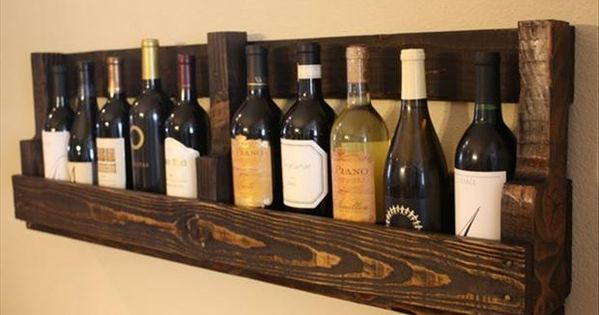 Pallet Wine Rack Ideas - See more Wood Pallet Ideas at http://wiselygreen.com/29-wood-pallet-project-ideas-for-the-creative-diyer/