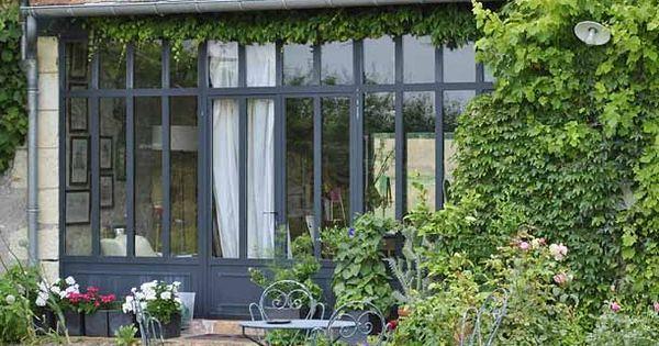 baie vitr e cabanes d pendances pinterest baies vitr es verri re et grandes fen tres. Black Bedroom Furniture Sets. Home Design Ideas