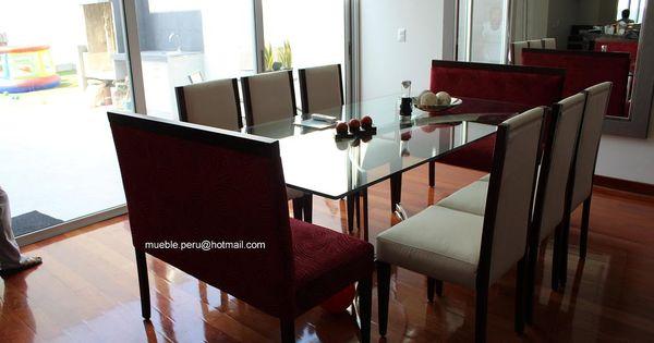 Hermoso comedor tamashiro con moderna mesa de acero y for Sillas de comedor elegantes