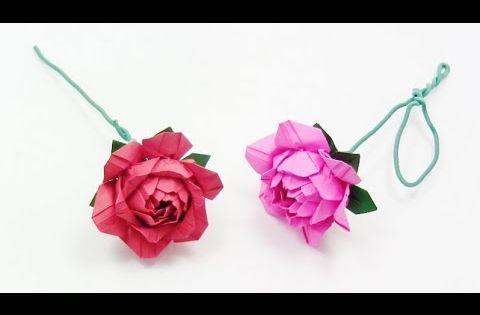 How To Make Origami Rose Paper Yakomoga Easy Origami Tutorial Youtube Origami Tutorial Easy Origami Easy How To Make Origami