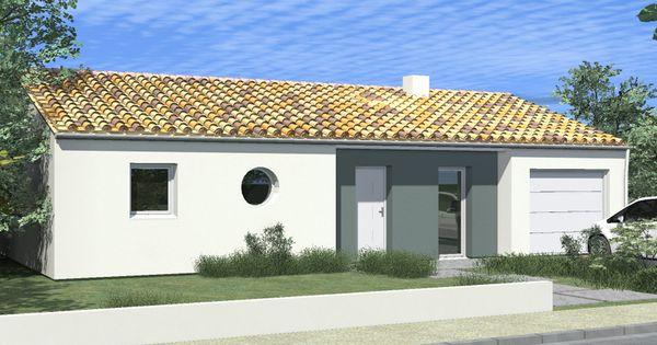 maison arizona de alliance construction en version sud loire 3 chambres et fa ade blanche avec. Black Bedroom Furniture Sets. Home Design Ideas