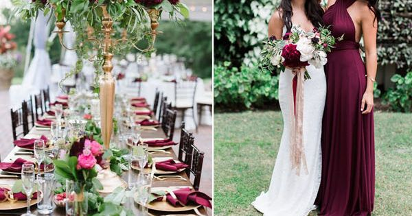 Wedding trends 10 fantastic burgundy color combos for for Wedding themes for september