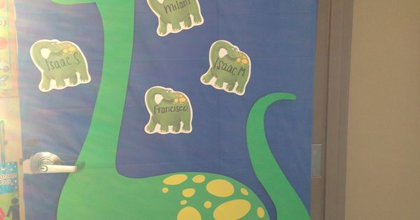 Classroom Board Ideas For Preschool ~ Dinosaur decoration classroom door things i made