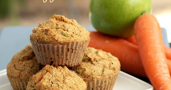 These Healthy Carrot Apple Muffins are delicious and no one will ever