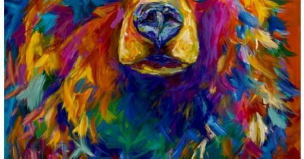 Hi Quot Big Bright Colorful Bear Ccp Kitty