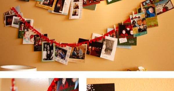 A Fun Way To Display Christmas Cards From Your Loved Ones
